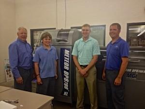 From L to R: Allan Kremer, owner; Tyler Moeller, operator; Mitch Kremer, owner; Jared Hess, lead operator